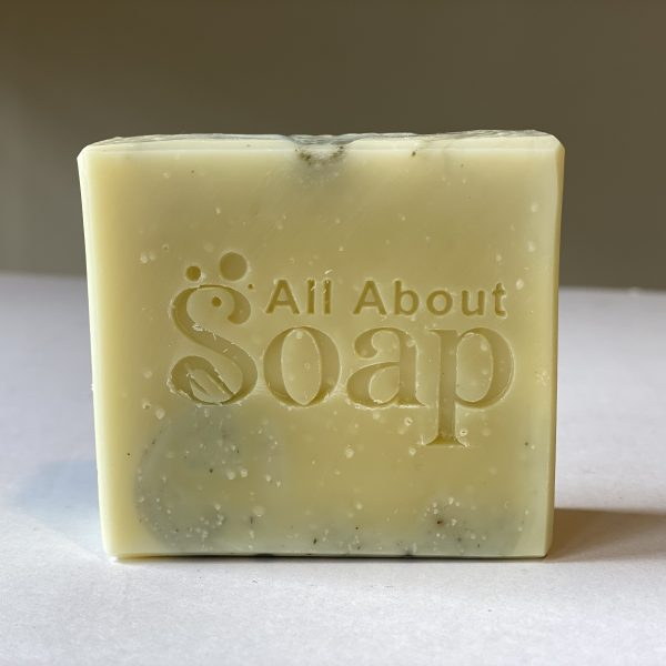 lemon and green clay soap
