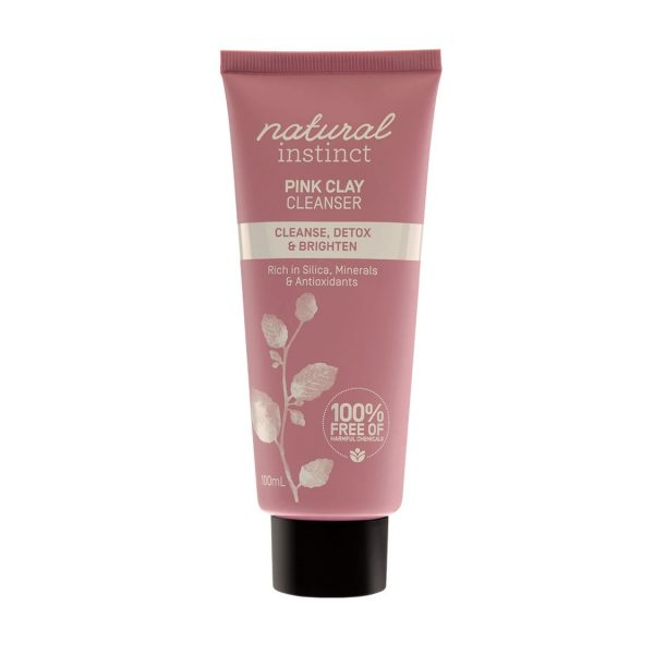 natural instinct pink clay cleanser