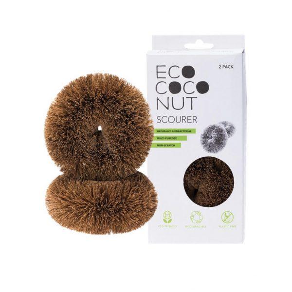 eco coconut scourer 2 pack